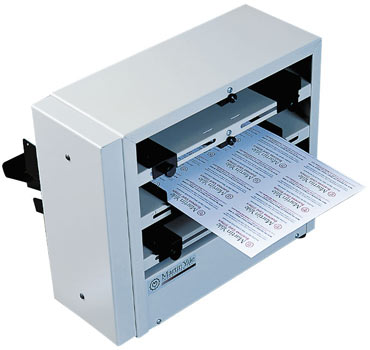Hs 2000m business card slitter manual 10up business card cutting the hs 2000 m is a manual business card making machine that cuts cards from letter sized paper with the cards printed in a 10 up format reheart Images